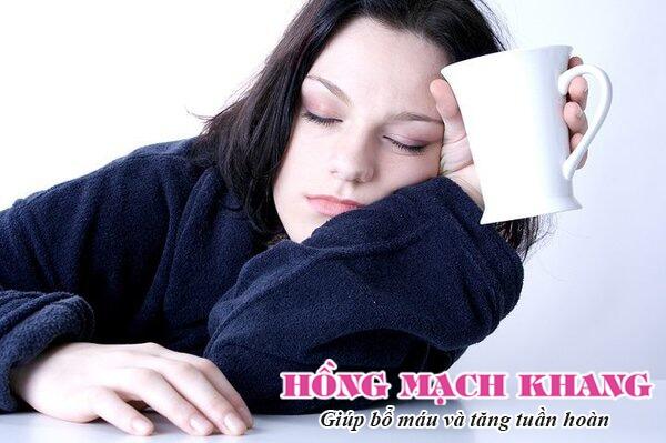 Thiếu máu thường gây ra mệt mỏi, da xanh tái